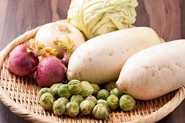 岐阜県岐阜市・まめな農園さんの有機栽培野菜を使用